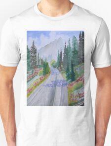 Biking The Mountains Unisex T-Shirt