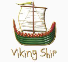 Viking Longship design Kids Tee