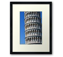 Leaning tower from the world famous Piazza dei Miracoli in Pisa, Italy. Framed Print