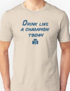 Drink Like a Champion - South Bend Style Yellow Unisex T-Shirt