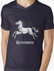 White horse of Rohan Mens V-Neck T-Shirt