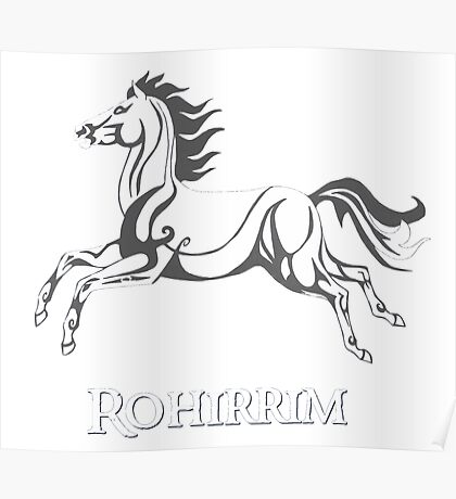 White horse of Rohan Poster