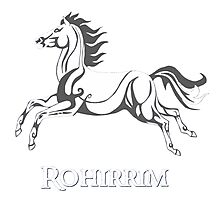White horse of Rohan Photographic Print