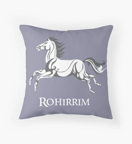 White horse of Rohan Throw Pillow