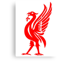 Liverpool Liver Bird Red  Canvas Print