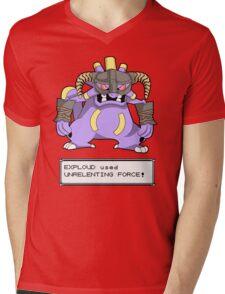 EXPLOUD used UNRELENTING FORCE! Mens V-Neck T-Shirt