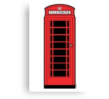 British Red Phone Box Canvas Print