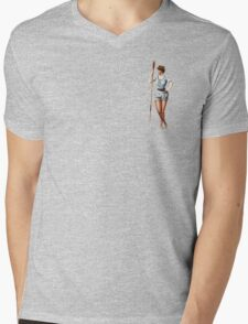 Rower With An Oar Mens V-Neck T-Shirt