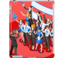 Election News Party Rally Crowd iPad Case/Skin