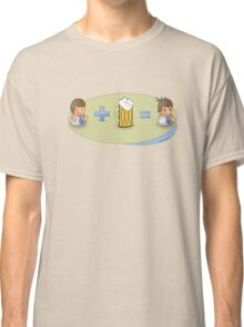 Sad + Beer = Awesome Classic T-Shirt