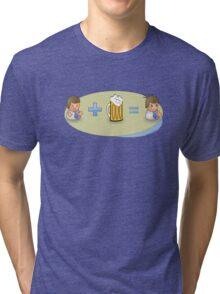 Sad + Beer = Awesome Tri-blend T-Shirt