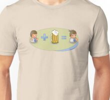 Sad + Beer = Awesome Unisex T-Shirt
