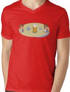 Sad + Beer = Awesome Mens V-Neck T-Shirt