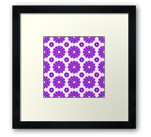 "Retro 1970s Geometric Print ""Flowers 3""  Framed Print"