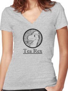 Tea Rex Women's Fitted V-Neck T-Shirt