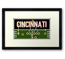 Cincinnati Touchdown Framed Print