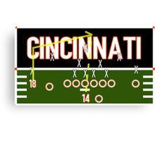 Cincinnati Touchdown Canvas Print