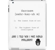 Sarcastic Monkey iPad Case/Skin