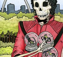 Undead Guy, St. Louis Arch, Snow Globes by sonyaandrews