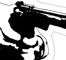 Hunter S Thompson - Gun - Large Sticker
