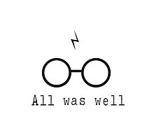 Harry Potter Scar All Was Well by geekchicprints
