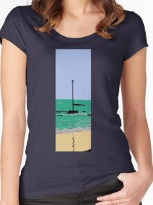 artistic licence on the sea, summer sun and seaside  Women's Fitted Scoop T-Shirt