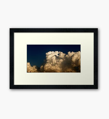 CUMULUS CLOUDS IN HIGH CONTRAST Framed Print