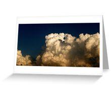 CUMULUS CLOUDS IN HIGH CONTRAST Greeting Card