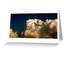 CUMULUS CLOUDS IN HIGH CONTRAST Greeting Card