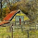 An Ancient Shed by Dennis Melling