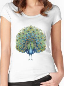Peacock Women's Fitted Scoop T-Shirt