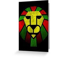 Reggae Rasta Lion. Greeting Card