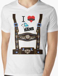 Lederhosen - Brown Mens V-Neck T-Shirt
