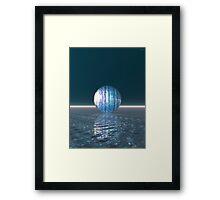 Glowing Blue Sphere Framed Print