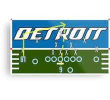 Detroit Touchdown Metal Print