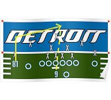 Detroit Touchdown Poster