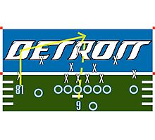 Detroit Touchdown Photographic Print