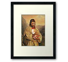 Jesus Yakult Framed Print