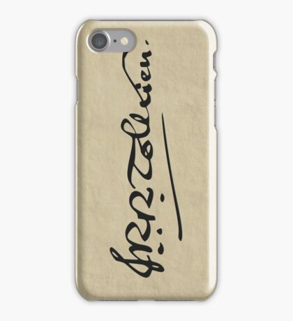 J. R. R. Tolkien Signature iPhone Case/Skin
