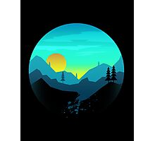Pine Hills By The Mountains Sunrise Photographic Print