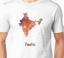 India  in watercolor Unisex T-Shirt