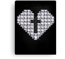 studded heart and cross Canvas Print