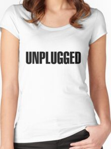 Unplugged Black Women's Fitted Scoop T-Shirt