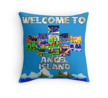 Welcome to Angel Island Throw Pillow