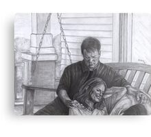 Castle and Beckett - Relax on the porch swing Metal Print