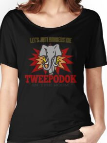 Big Bang Theory Inspired - Amy Farrah Fowler's Language - Tweepodok - Elephant - Elephant in the Room - TBBT Women's Relaxed Fit T-Shirt