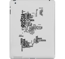 Countries of the world iPad Case/Skin