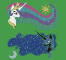 Princess Celestia and Nightmare Moon Baby Tee