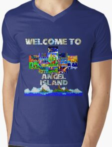 Welcome to Angel Island Mens V-Neck T-Shirt