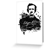 Edgar Allan Poe - Poe the Raven - The Following - Brilliant and Dark World of Poe Greeting Card